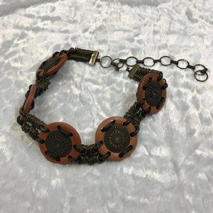 Vintage Tribal Adjustable Artisan Distressed Belt
